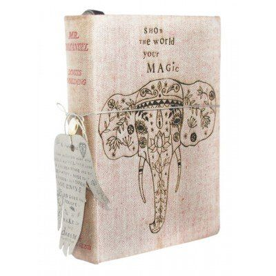 A lovely handmade journal to use for writing your thoughts and dreams. Made from old, upcycled book covers and recycled paper. Wake Up and Dream Journal - Show The World Your Magic from Faithful to Nature. Eco-friendly, green and zero waste product from South Africa. Affiliate link.