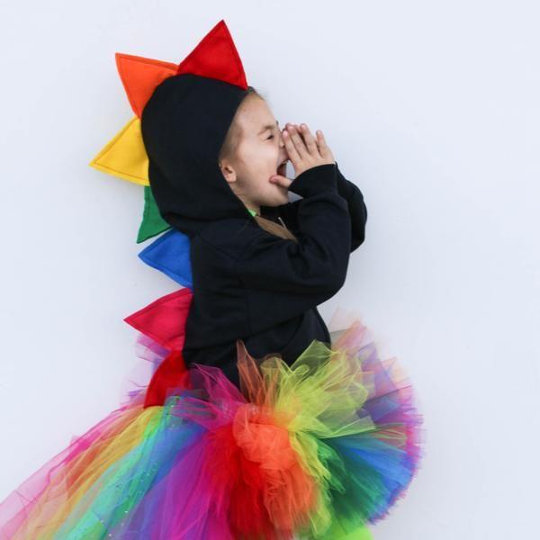 Rainbow Dinosaur Hoodie For Babies Toddlers And Kids Kids Fashion Diy Toddler Fashion Rainbow Outfit