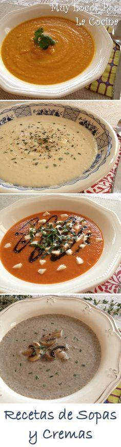 Una recopilación de las recetas de Sopas y Cremas de Muy Locos Por La Cocina. Puedes encontrarla en www.muylocosporlacocina.com.