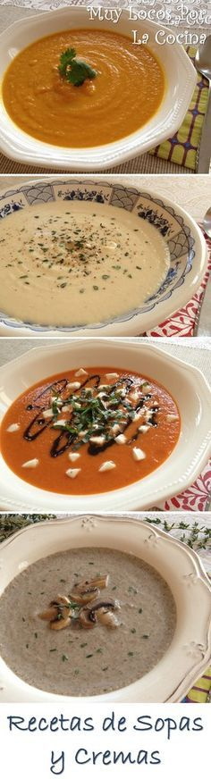 ^^ Una recopilación de las recetas de Sopas y Cremas de Muy Locos Por La Cocina. Puedes encontrarla en www.muylocosporlacocina.com.