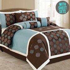 Queen 11 Pieces Comforter Set-20715-BLU-Q