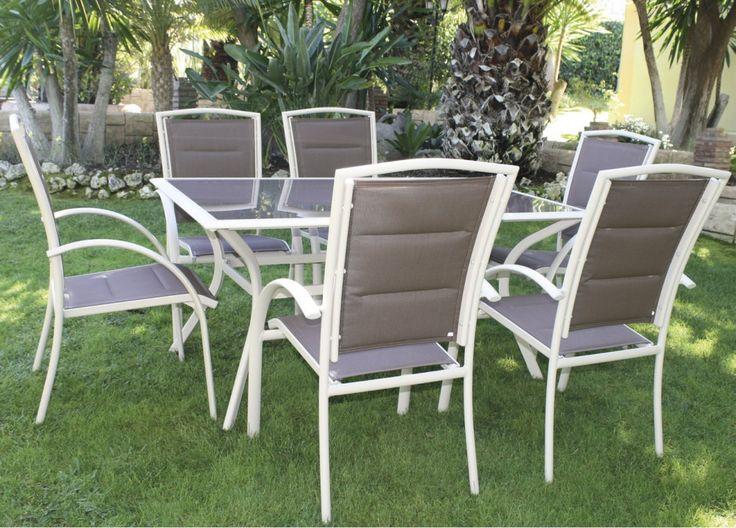 Aluminio y fibra sint tica gran opci n para muebles de for Sillones terraza jardin