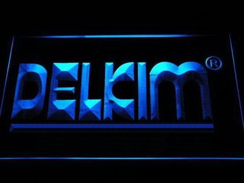 Delkim Fishing Logo LED Neon Sign www.shacksign.com