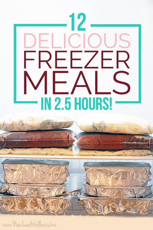 12 Delicious Freezer Meals in 2.5 Hours.  This is so easy & delicious!
