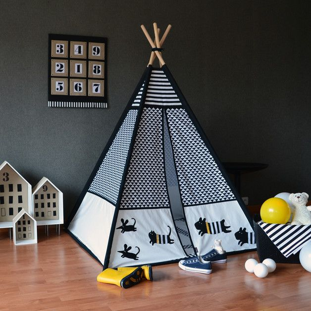 The tipi is decorated with a hand made applications  ** Delivery includes…