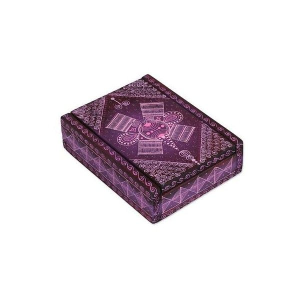 NOVICA Wood Alebrije Business Card Holder In Purple From Mexico ($35) ❤  Liked On Polyvore Featuring Home, Home Decor, Office Accessories, Decor  Accessories ...