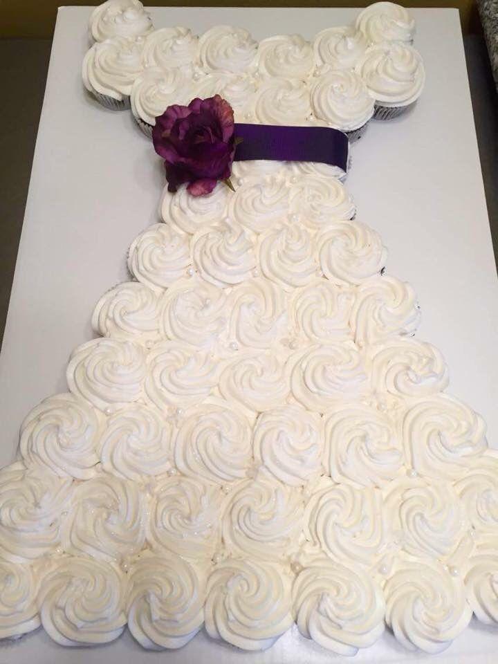 Plum Cupcake Bridal Shower Cake