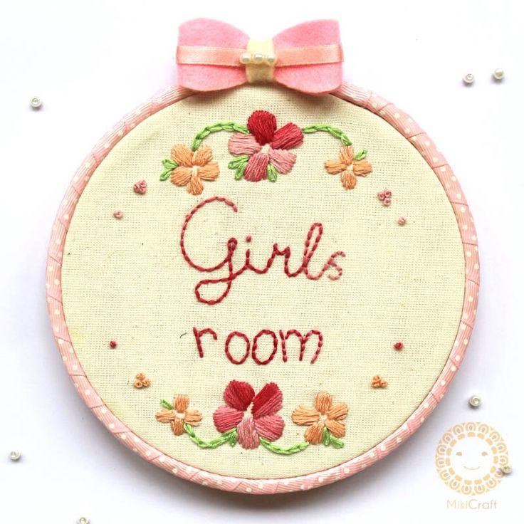 Girls room signage for hanging in door , 14cm. Store : Https://www.instagram.com/mikicraft/