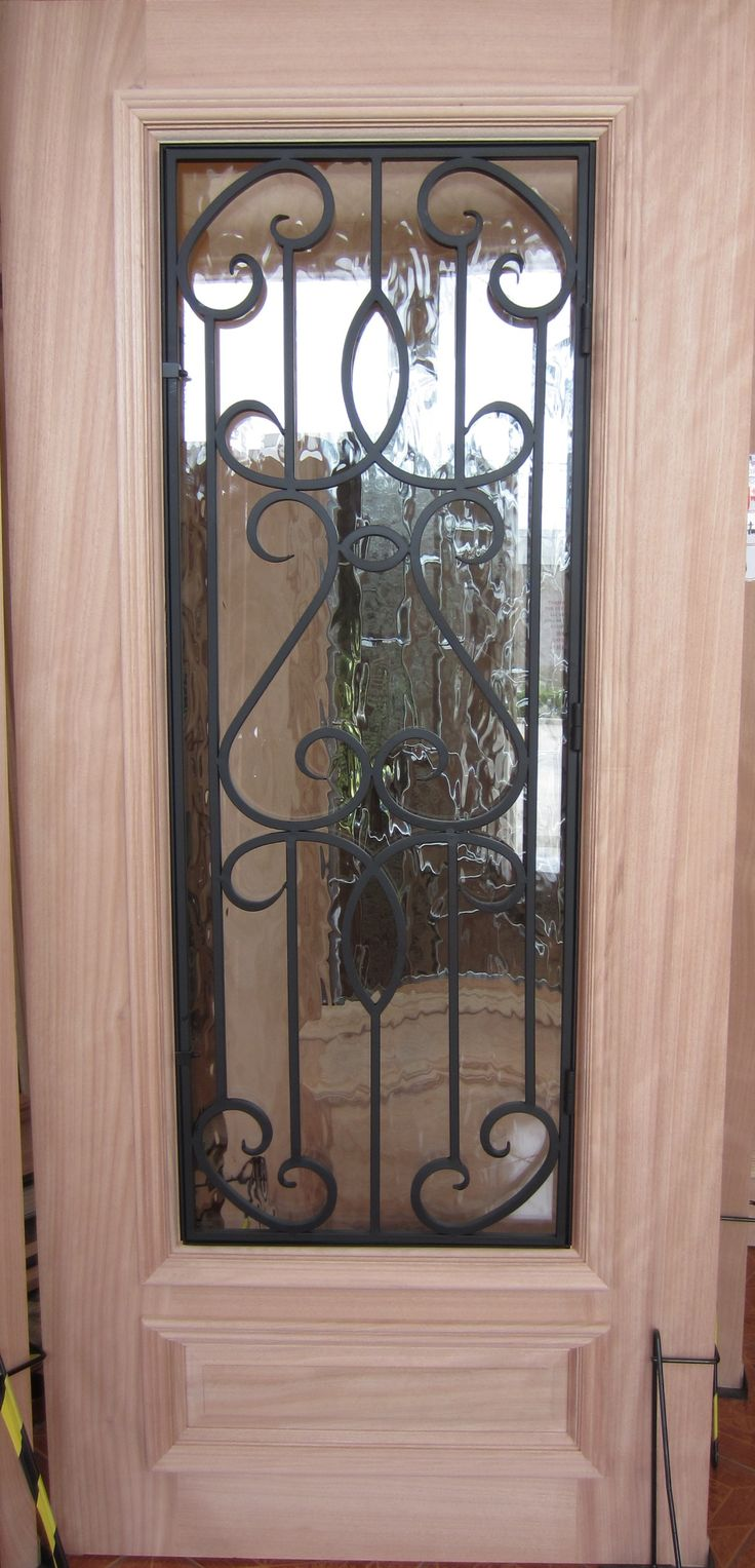 #12 Iron Grill Mahogany Wood Front Entry Door On SALE!