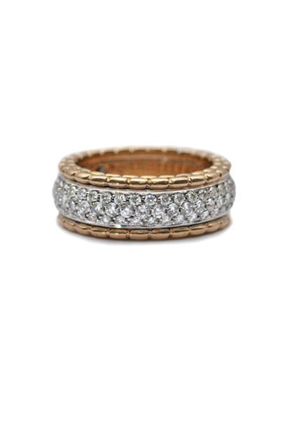 FOPE 1.76ctw Pave Diamond & Gold Ring at Oster