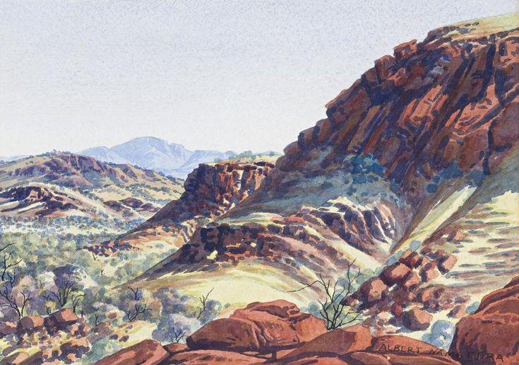 Ewald Namatjira, Ranges to Mount Zeil, 1953
