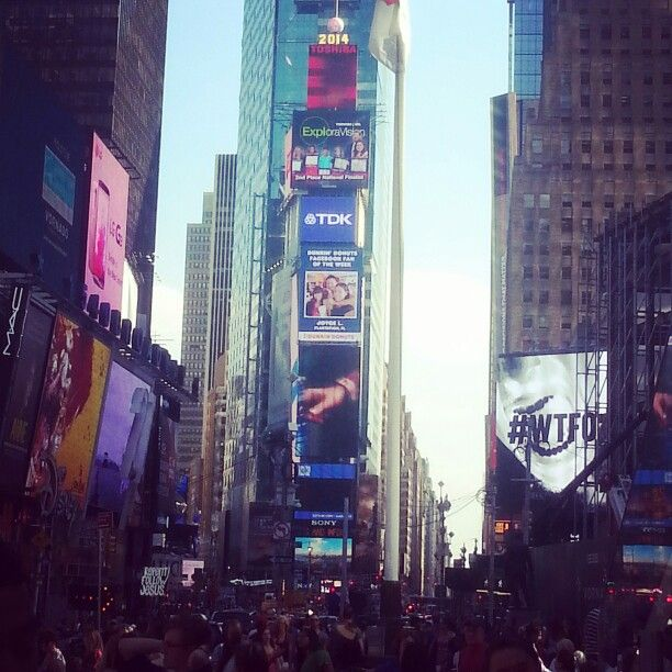 Times Square has a magnificent vibe! Makes you want to go wild!!!!