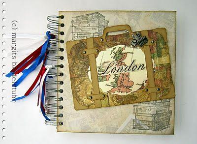 London-Reisealbum zum Aufbewahren von Erinnerungen. London travel album for storing memories