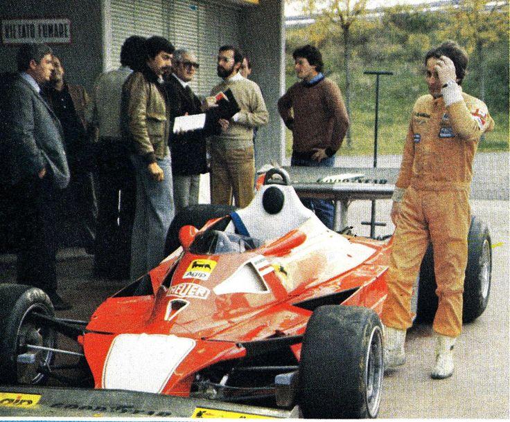 Joseph Gilles Henri Villeneuve (CAN) (Scuderia Ferrari), Ferrari 312T2 - Ferrari Tipo 015 3.0 Flat-12 1977 Italy Test Session, Pista di Fioran