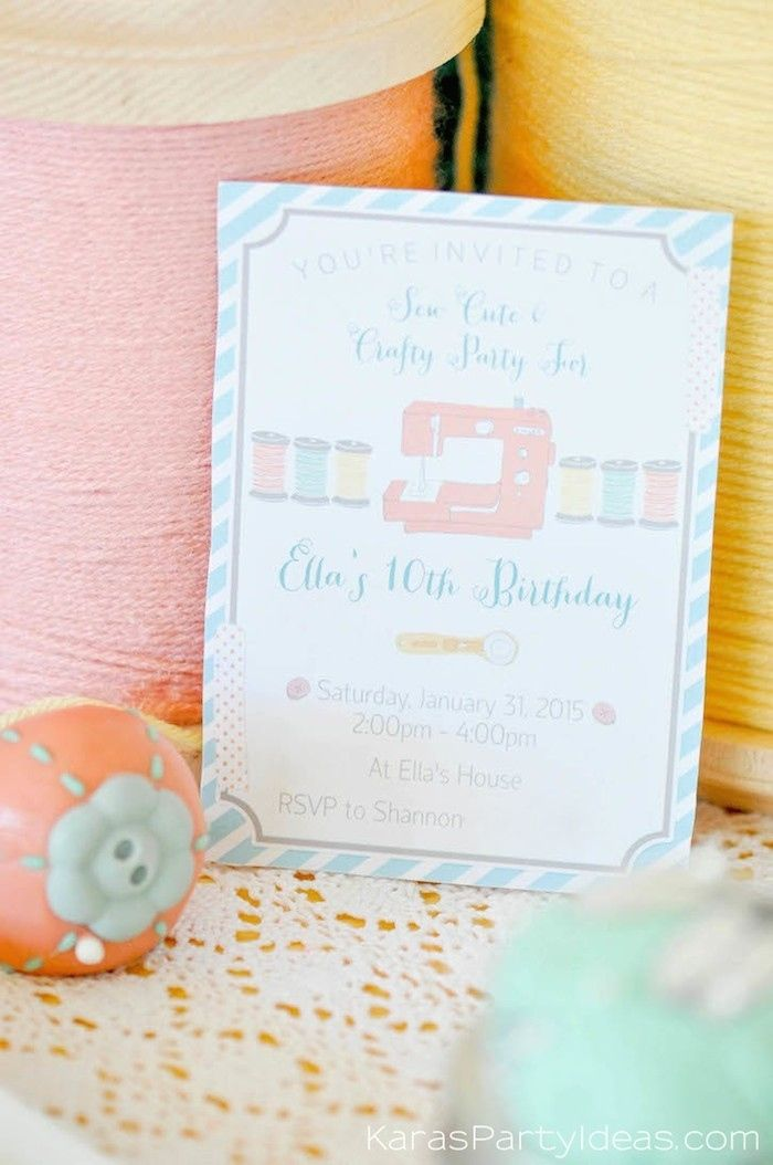 sewing themed birthday party via Kara's Party Ideas | Kara Allen | KarasPartyIdeas.com A lot of cute as a button elements, decor, cupcakes, food, games and more!_-301