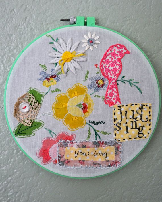 Images about embroidery hoop art ideas on pinterest