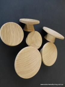See the full range of round turned wooden handles in vintage, classic and modern mid-century designs.