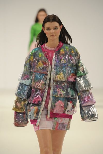 My little pony vinyl jacket. club kid / kawaii style. WANT.