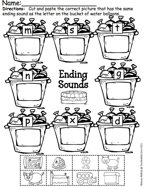 32 best Initial & Final Sounds images on Pinterest