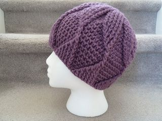 crochet hat Lovely pattern, maybe for a chemo hat with character!