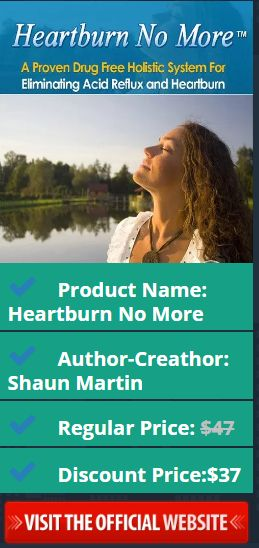 Product Name: Heartburn No More Author-Creathor: Shaun Martin Regular Price: $47 Discount Price:$37