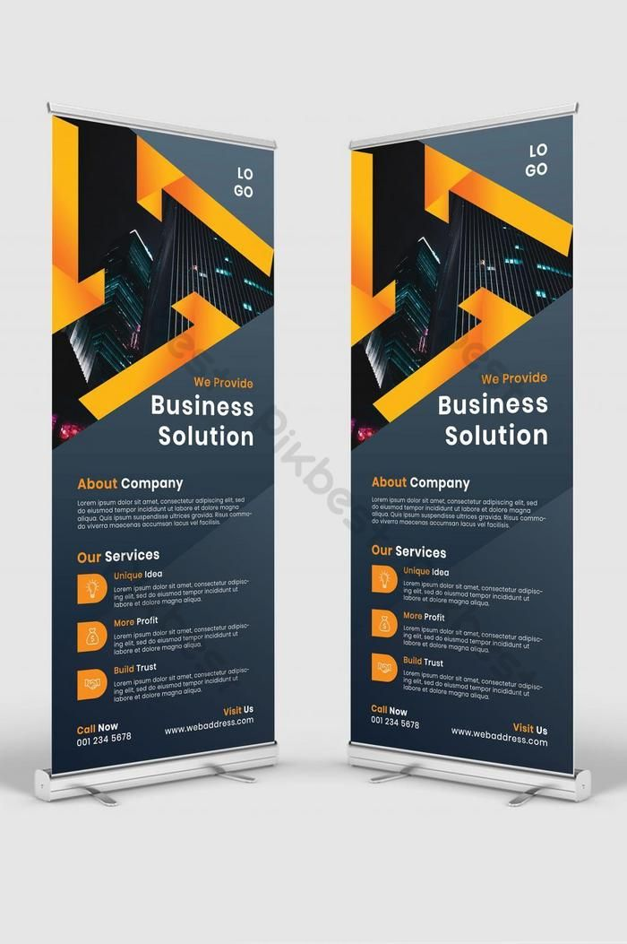 Business Solution Abstract Roll Up Banner Psd Free Download Pikbest Business Solutions Psd Free Download Free Psd