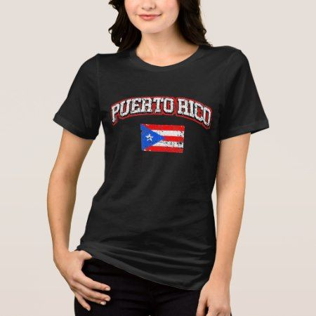 Puerto Rico Vintage Flag T-Shirt - click/tap to personalize and buy