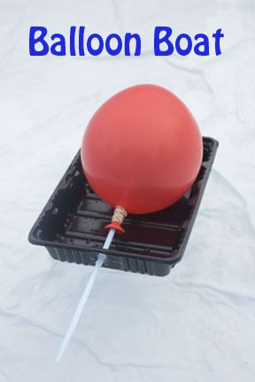 Explore how air can propel things with little balloon boats. Also a great excuse to play in the water!