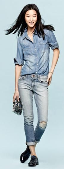 what-to-wear-with-oxford-shoes-women.jpg - Joe's Jeans 'Rolled Skinny Ankle Jeans' Image: Nordstrom.com