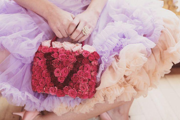 Fresh flower rosebud handbag - BlueSkyFlowers.co.uk Photo credit - Crissi Rossi Photography