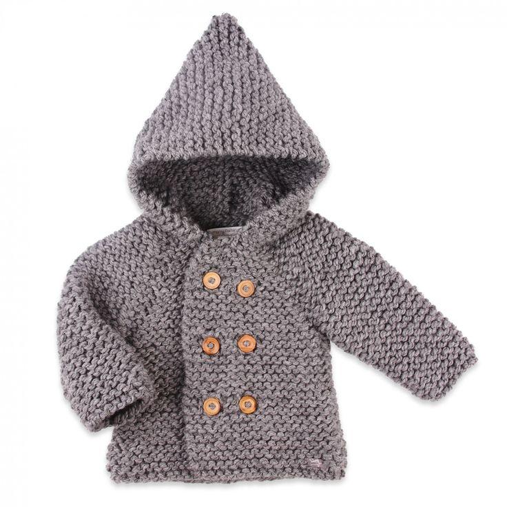 modèle tricot gilet avec capuche
