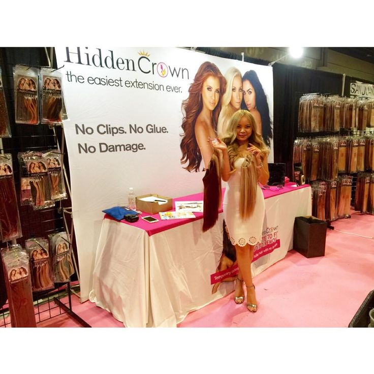 We are having a great time at International Beauty Shows! Don't miss the last day to see the Hidden Crown Hair Extensions!!   #HiddenCrown #HiddenCrownHair #IBS #IBS2015 #IBSVegas #IBSLV
