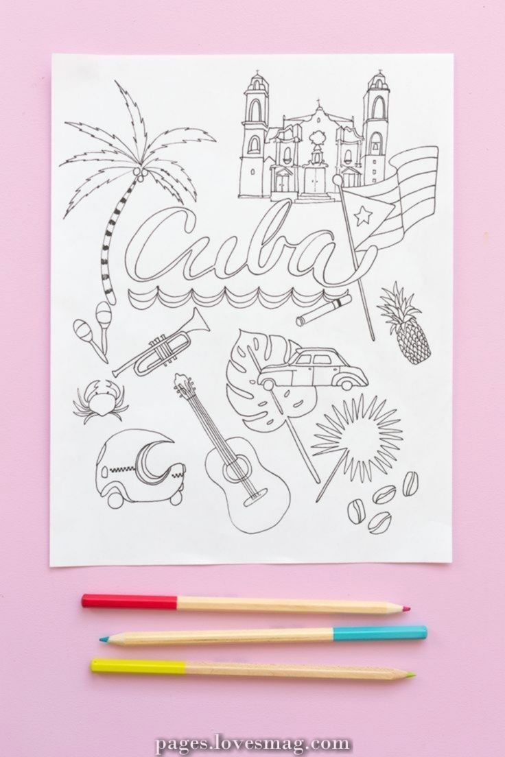 Spectacular Coloring Pages Cuba Coloring Pages Coloring Pages