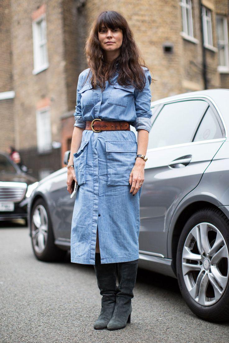 Наташа Гольденберг, Оливия Палермо, Ева Герцигова и другие звезды стритстайла в последние дни лондонской Недели моды.