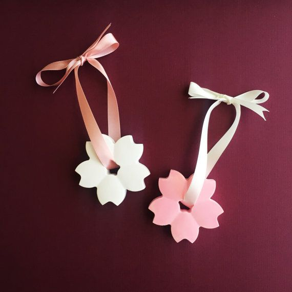 Cherry Blossom Plaster Air Freshener / Car by DFlowerBoutique