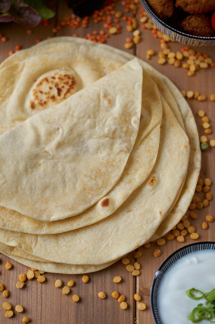 Selbstgemachte Weizen Tortilla | Homemade Flour Tortilla | Rezept auf carointhekitchen.com | #Tortilla #Rezept #Recipe (Vegan Tacos Bake)