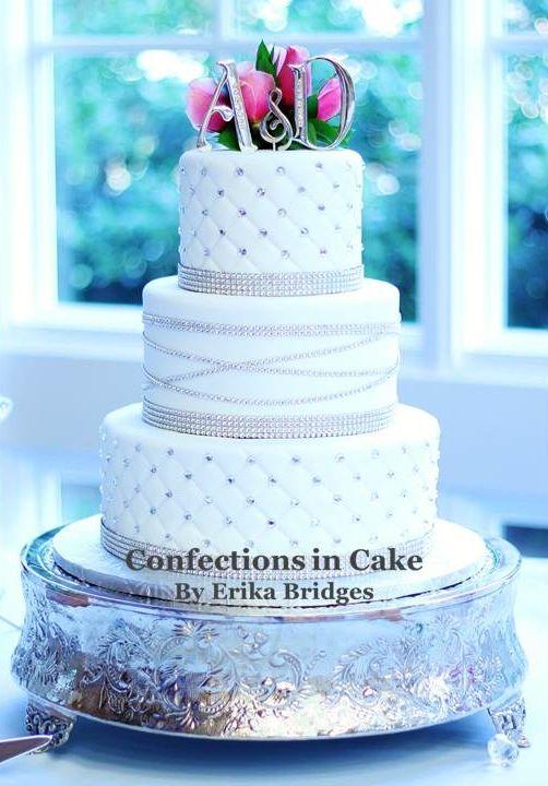 Blinged Out Rhinestone Wedding Cake