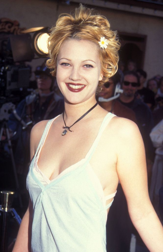 Drew Barrymore. When I think 90's makeup, this is typically what I see.