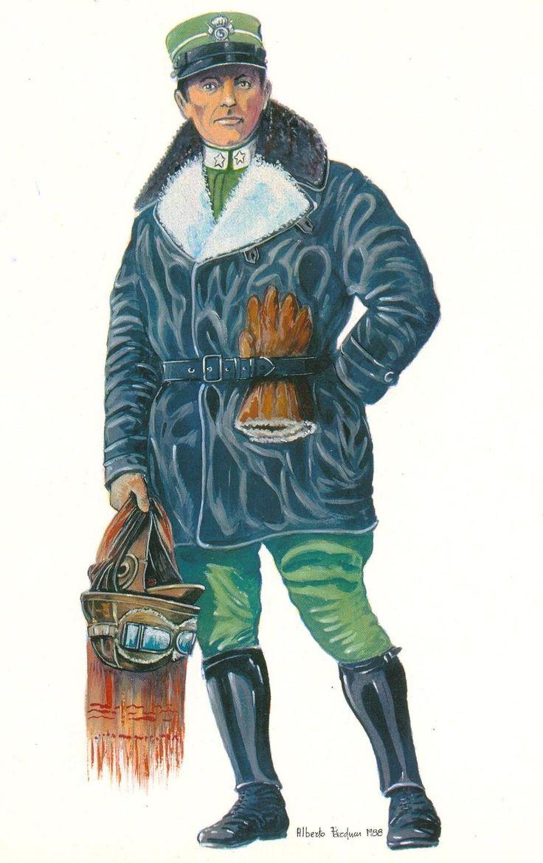 Regio Esercito - Tenente Aviatore del 5° Reggimento Lancieri di Novara, 1915-18