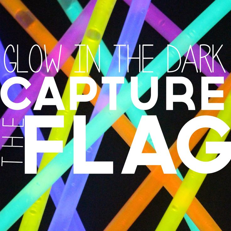 As the evenings are getting cooler, it's the perfect time for a heart-thumping, sweat-dripping night game of CAPTURE THE FLAG. Glow stick-style. Here's how to play: 1. Gather a big gro...