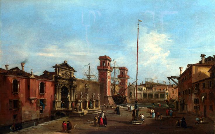 Francesco Guardi – The National Gallery (London) NG3538. Venice: The Arsenal (1755-1760)
