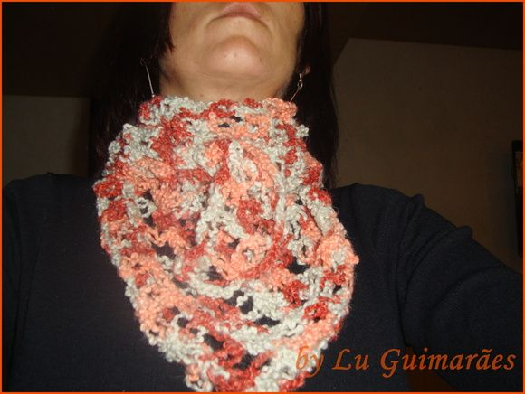 Lenço em crochê pode ser produzido em outras cores R$ 39,80