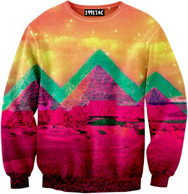 neon mountain sweatshirt