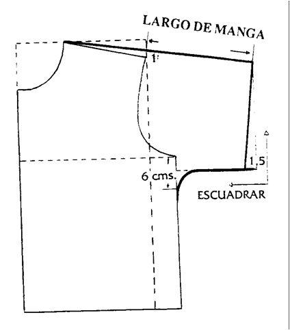 Imagen Patrón de la blusa con mangas - grupos.