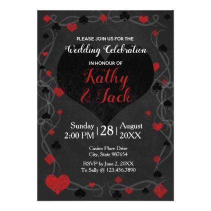 Stylish casino wedding invitation - wedding invitations diy cyo special idea personalize card