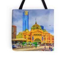 Flinders Street Station -- No Distracting Wires Tote Bag