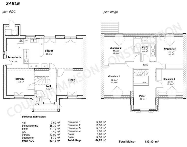 plan maison en u avec piscine endroits visiter pinterest. Black Bedroom Furniture Sets. Home Design Ideas