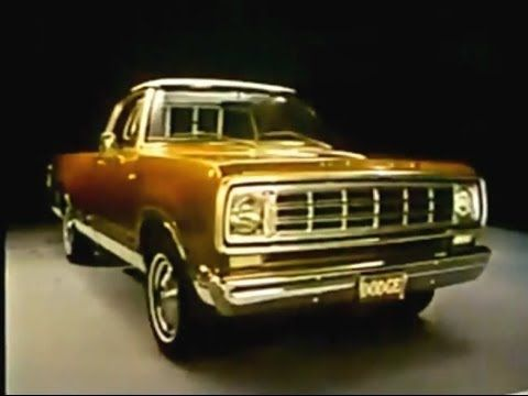 Dodge Pickup Truck Commercial With Joe Garagiola (1976)