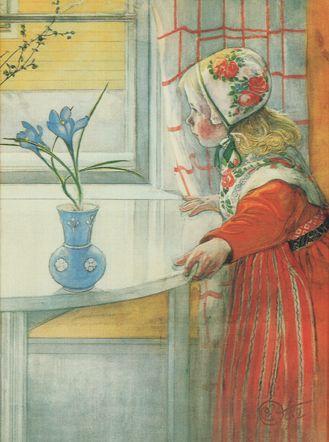 "Carl Larsson ~ ""Karin at the window"""