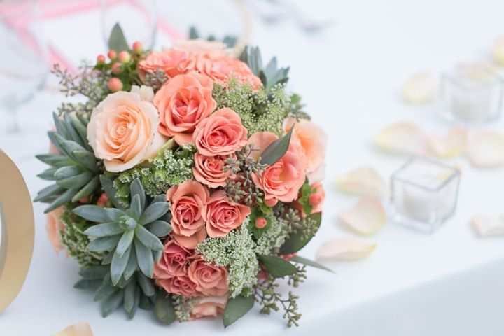 Modern Peach and Mint Wedding Inspiration